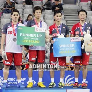 일본 3종목 우승, 엔도-와타나베 통산 첫 우승 [2018 배드민턴 코리