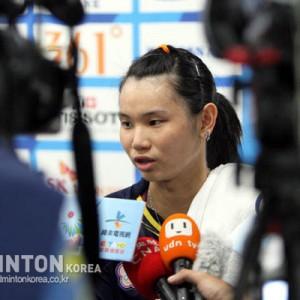 [아시아선수권] 배드민턴 여자단식 타이츄잉, 22연승 행진 질주