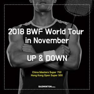 BWF 월드투어 in November 업앤다운, #배드민턴코리아, #카드