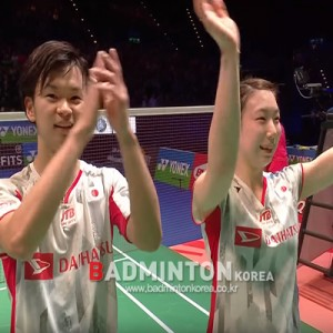 [전영오픈] 와타나베-히가시노, 일본 선수 최초 전영오픈 혼복 우승