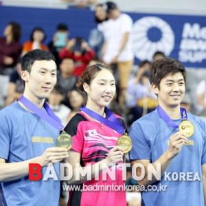 한국, 2015코리아오픈 두 종목 우승